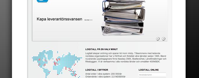 Logitall Webbsida